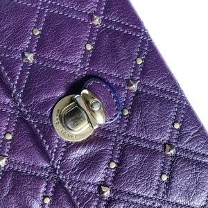 Purple Studded Marc Jacobs Envelope Clutch Wallet